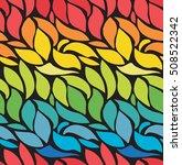 colorful bright petals. wavy... | Shutterstock .eps vector #508522342