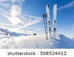 ski in winter season  mountains ... | Shutterstock . vector #508524412