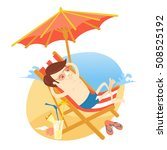 vector illustration funny man... | Shutterstock .eps vector #508525192