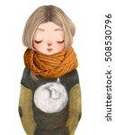 cute cartoon girl | Shutterstock . vector #508530796
