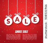 christmas balls sale poster... | Shutterstock .eps vector #508531966