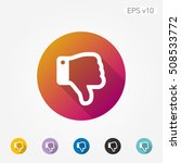 colored icon of thumbs down... | Shutterstock .eps vector #508533772