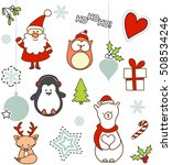 set of christmas characters... | Shutterstock .eps vector #508534246