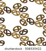 bagels on a white background.   Shutterstock .eps vector #508535422