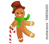 cookies gingerbread man ... | Shutterstock .eps vector #508536202