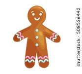 christmas cookies smiling... | Shutterstock .eps vector #508536442