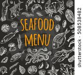 seafood menu card on the... | Shutterstock .eps vector #508538482