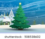 winter landscape with christmas ... | Shutterstock .eps vector #508538602