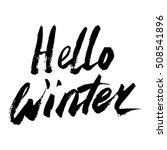 hello winter text. vector.... | Shutterstock .eps vector #508541896