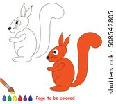 red squirrel to be colored  the ... | Shutterstock .eps vector #508542805