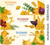 Pasta Banners. Italian Cuisine...
