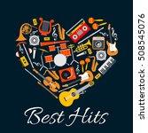 music emblem. musical... | Shutterstock .eps vector #508545076