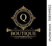 luxury logo template in vector... | Shutterstock .eps vector #508549822