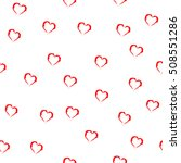 heart red seamless pattern.... | Shutterstock . vector #508551286