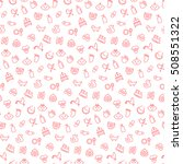 seamless pattern with icons of... | Shutterstock . vector #508551322