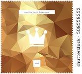 abstract vector gold polygonal... | Shutterstock .eps vector #508558252