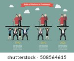 ratio of workers to pensioners. ... | Shutterstock .eps vector #508564615
