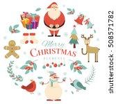 merry christmas holiday design... | Shutterstock .eps vector #508571782
