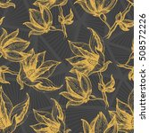 hand drawn floral pattern with... | Shutterstock .eps vector #508572226