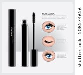 mascara packaging with eye... | Shutterstock .eps vector #508574656