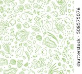 veggie seamless pattern with... | Shutterstock .eps vector #508575076