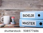 bachelor and master. two... | Shutterstock . vector #508577686