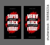 black friday sale banner ... | Shutterstock .eps vector #508582216