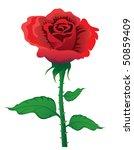 vector illustration of red rose ...   Shutterstock .eps vector #50859409