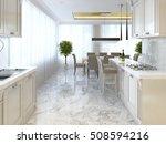 luxury kitchen with opaline... | Shutterstock . vector #508594216