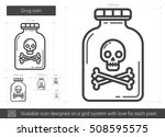 drug vector line icon isolated...   Shutterstock .eps vector #508595575