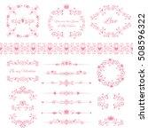 floral design elements set ...   Shutterstock .eps vector #508596322