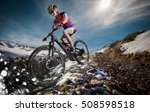 sport. snow mountain bike... | Shutterstock . vector #508598518