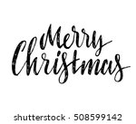 hand drawn merry christmas | Shutterstock .eps vector #508599142