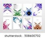 geometric background template... | Shutterstock .eps vector #508600702