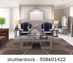 two luxurious armchairs in the... | Shutterstock . vector #508601422
