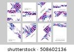 geometric background template... | Shutterstock .eps vector #508602136