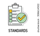standards line icon   Shutterstock .eps vector #508614502