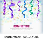 merry christmas set of colorful ... | Shutterstock .eps vector #508615006