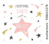 inspirational and motivational... | Shutterstock .eps vector #508621378