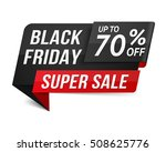 black friday super sale banner  ... | Shutterstock .eps vector #508625776