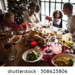 family together christmas... | Shutterstock . vector #508625806