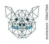 polygon animal pet poly boar... | Shutterstock .eps vector #508627066