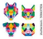 animal pet polygonal poly pop...   Shutterstock .eps vector #508637836