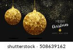 gold merry christmas and new... | Shutterstock .eps vector #508639162