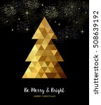 gold merry christmas design ... | Shutterstock .eps vector #508639192