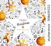 merry christmas and happy new... | Shutterstock .eps vector #508639222
