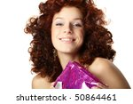 happy woman with gift | Shutterstock . vector #50864461