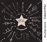 different arrows by hand on the ... | Shutterstock .eps vector #508644982