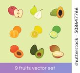 vector set of 9 different... | Shutterstock .eps vector #508647766