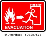 fire evacuation sign | Shutterstock .eps vector #508657696